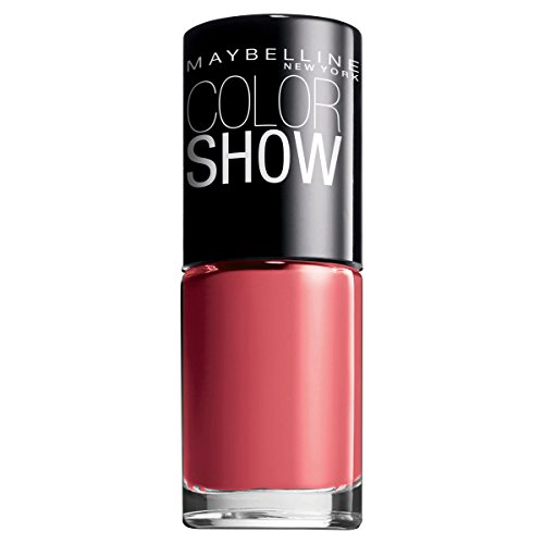 Maybelline New York Make-Up Nailpolish Color Show Nagellack Coral Craze / Ultra glänzender Farblack in knalligem Rot, 3 x 7 ml
