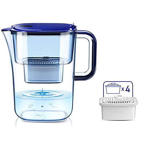 Water Filter Pitcher, Quad Filter 360 ° watertoevoerfilter Water Bottle 3.5L grote capaciteit stofdicht Spuiten van het Water Water Purifier,S