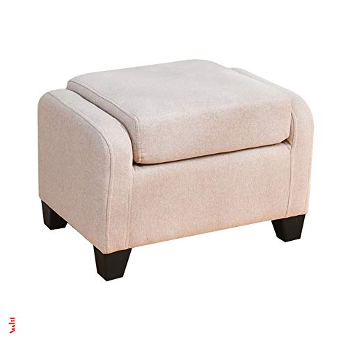 DULPLAY Madera Portátil Taburete del sofá, Plegable Taburete Puff Cuadrado Banco cómodo...