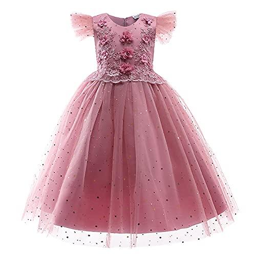 Vestido de niña de flores princesa elegante dama de honor vestido de fiesta de boda bowknot tul tutú de cumpleaños desfile cóctel largo baile vestido de baile