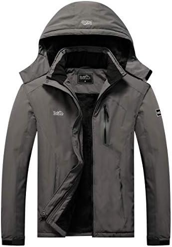 Pooluly Men s Ski Jacket Warm Winter Waterproof Windbreaker Hooded Raincoat Snowboarding Jackets product image
