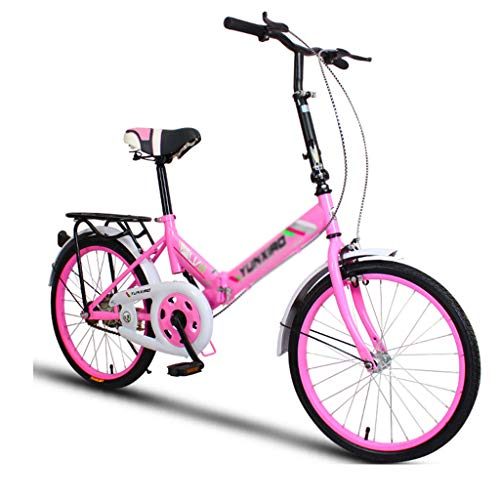 Review Folding Bikes Bicycle Bike Unisex 20 Inch Wheels Folding City V2 Compact Foldable Bike Lightw...
