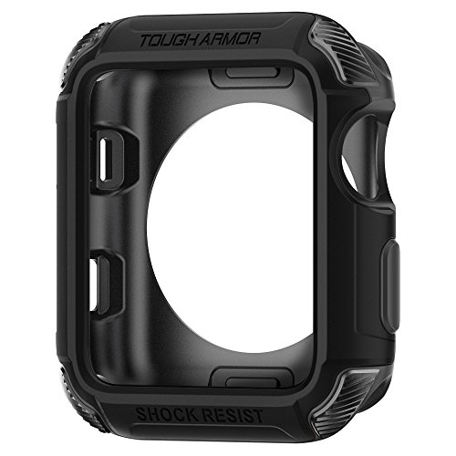 Spigen Tough Armor Kompatibel mit Apple Watch Hülle für 42mm Serie 3 / Serie 2/1 / Original (2015) - Schwarz