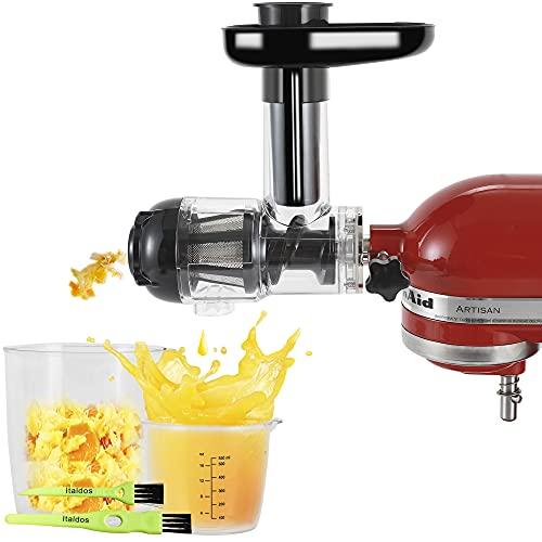 Italdos Estrattore di Succo a Freddo compatibile per KitchenAid, Estrattore di Frutta e Verdura, Facile da pulire, Elevata resa di succo e Polpa più Secca
