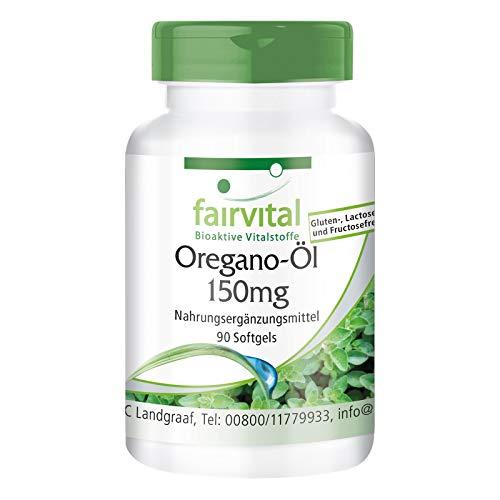 Oregano-Öl Kapseln 150mg - HOCHDOSIERT - Oregano Oil 10:1 Extrakt - Origanum vulgare - 90 Softgels