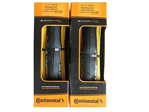 2本セット Continental(コンチネンタル) UltraSport2 イエロー ウルトラスポーツ2 700c 黄色 クリンチャー ...