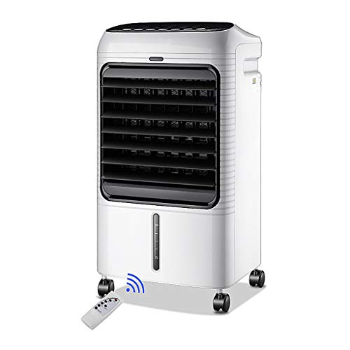 GYF Enfriador Evaporativo,El Ahorro De Energía 3 En 1 Purificador Función Frío Ventilador Control Remoto Multifunción Aires Acondicionados Móviles Blanco Y Negro 37X30X73CM