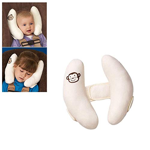 Adjustable Baby Car Seat Stroller Safety Pillow,Soft Head Neck Support, Banana U-Shape Children Travel Headrest Head Protection Pillow