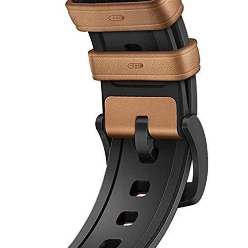 LGFCOK De Silicona Correa de Cuero for el Reloj de la Banda de Apple de 40 mm de IWatch Band 38mm 42mm 44mm Correa de Reloj Pulsera for la Serie de Apple Seguir 5 4 3 2 1