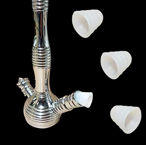 Bayli 4er Set Schlauchdichtungen Shisha | Universal Dichtung für Wasserpfeife Schläuche | Shishaschlauch Gummidichtung | Transparent | Silikon Schlauchdichtung | Ersatzdichtung für Silikonschlauch