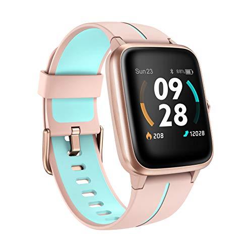 Smartwatch GPS, 5ATM Wasserdicht Fitness Armband 14 Sportmodi Activity Tracker mit Schwimmmodus für Damen Herren Kinder, Voller Touchscreen Aktivitätstracker mit Schrittzähler, Schlafmonitor, Stoppuhr