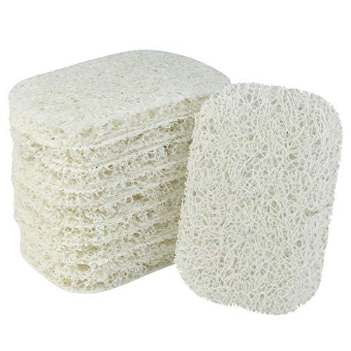 Nydotd 10 Pack Soap Saver, Soap Dish Soap Holder Accessory PVC Premium Material Non-Slip Soap Dishes Holder Soap Pad Bathroom Accessories(White)