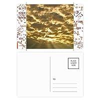 暗い空日光黄色の雲 公式ポストカードセットサンクスカード郵送側20個