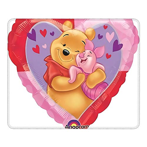 The Pooh & Piglet Heart Balloon Mouse Pad Bracer Gaming Mouse Pad Creativity Optics Mouse Pad Smooth Surface Waterproof Non-Slip Base Laptop Office Accessories(25X30cm)