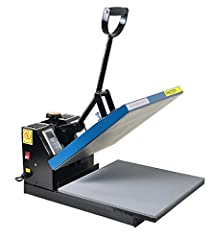 Fancierstudio Power Heat Press 15 inch by 15 inch heat press. Voltage: 110V (standard US and Canada) .Power: 1400 watts, Heat Press Style: Clamshell, Temperature Range: 0-500 degrees F; Time Range:0-999 seconds, Electronic time and heat control; prec...