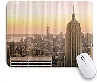 マウスパッド Mouse Pad Empire State Building Sunset Modern Mousepad Non-Slip Rubber Base for Computers Laptop