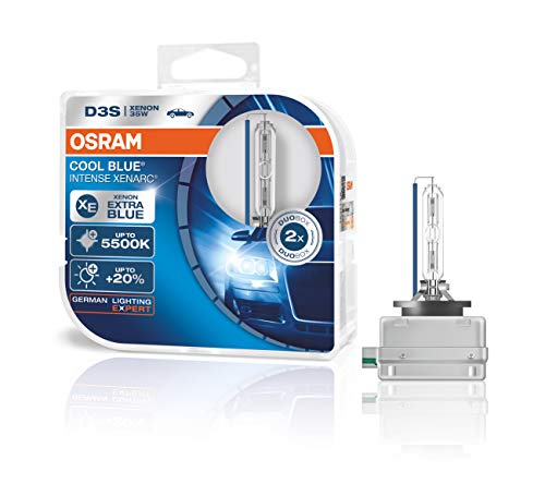 OSRAM XENARC COOL BLUE INTENSE D3S HID, lámpara de xenón, lámpara de descarga, 66340CBI-HCB, caja doble (2unidades)