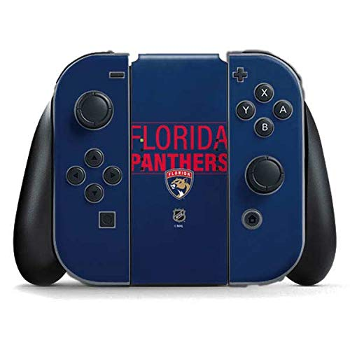 Skinit Decal Gaming Skin Compatible with Nintendo Switch Joy Con Controller - Officially Licensed NHL Florida Panthers Lineup Design