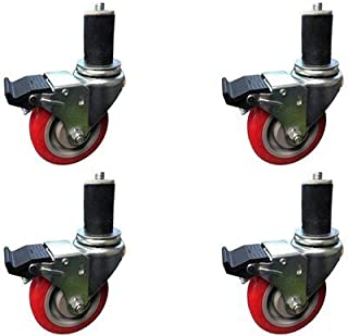 CasterHQ - 3 INCH Caster Wheel Set for Commercial Kitchen PREP Tables, Total Locking CASTERS