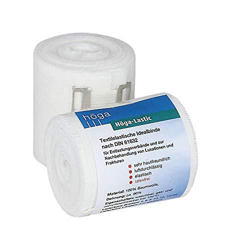 Höga Lastic Idealbinde, textilelastische Idealbinde nach DIN 61632, 6 cm x 5 m gedehnt ,sehr hautfreundlich, luftdurchlässig, elastisch, 1er-Pack