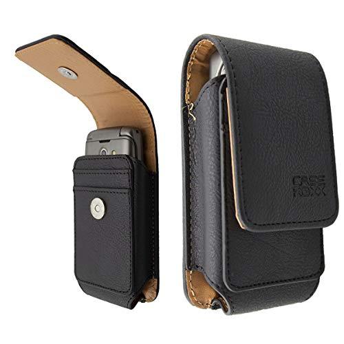 caseroxx Ledertasche mit Gürtelschlaufe für Doro 7050/7060, Tasche (Ledertasche mit Gürtelschlaufe in schwarz)