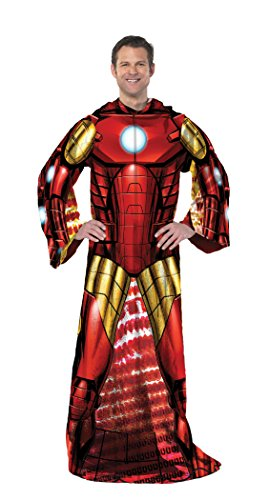 Marvel's Iron Man, 'Being Iron Man' Adult Comfy Throw Blanket, 48' x 71', Multi Color