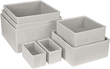 Sorbus Storage Basket Bin for Dresser Drawer Shelf & Cloth Closet Organizer Set Foldable Stackable Great Organization for Bedroom Home Bathroom Office  Beige