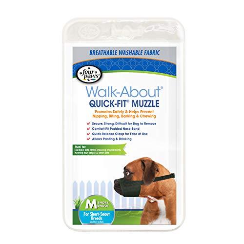Four Paws Quick Fit Dog Muzzle, Black, Size 3XL