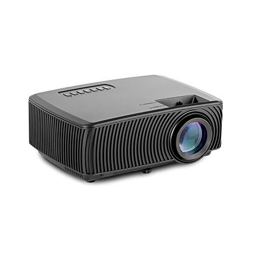 Draagbare projector, draagbare miniprojector, ondersteuning voor 1080P en 138 '' scherm met lampduur van 30.000 uur, compatibel met PS4, pc via HDMI, VGA, TF, AV en USB zwart (zwart),Black