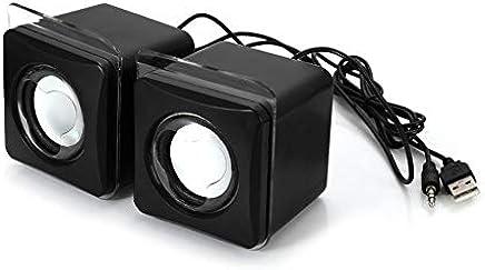 ClookYuan Maikou USB 3.5mm Aux Wired Altoparlante Music Player Mini 2.0 Canali Altoparlante multimediale per MP3 Telefono Notebook Desktop - Nero - Trova i prezzi più bassi