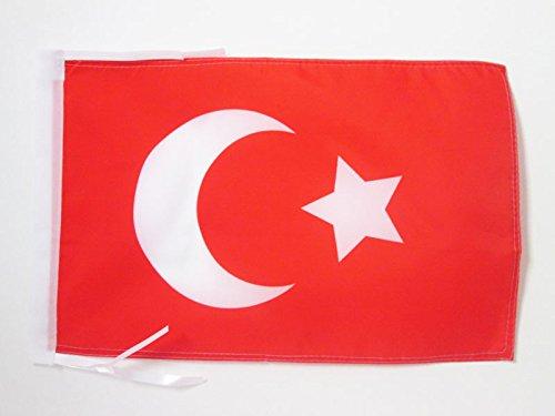 AZ FLAG Flagge OSMANISCHES REICH 45x30cm mit Kordel - OTTOMANISCHES REICH Fahne 30 x 45 cm - flaggen Top Qualität