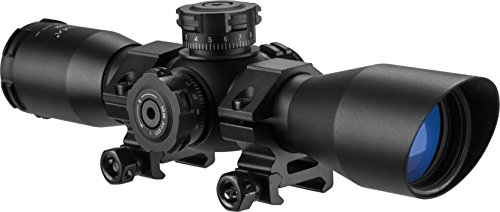 BARSKA AC11876 Contour Rifle Scope 4x32 Red/Green Illuminated Mil-Dot Reticle with...