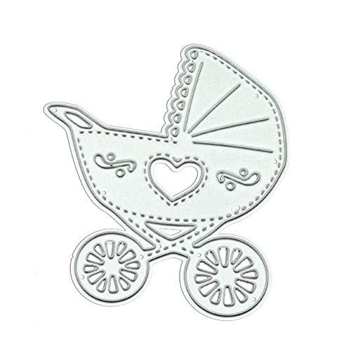 CAOLATOR Stanzmaschine Stanzschablone Baby Kinderwagen Scrapbooking Prägeschablonen Stanzen Schneiden Schablonen für Scrapbooking Fotopapier Karten Handwerk Prägen