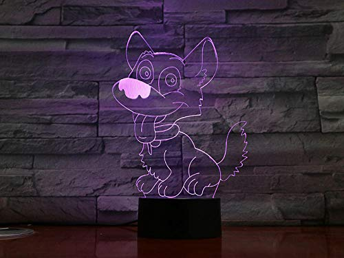 Lámpara de ilusión 3D Luz de noche LED Base acrílica linda Bebé Luz de bebé linda Ambiente de habitación de bebé Lámpara de mesa Interruptor táctil Regalo de cumpleaños Habitación de niños Regalo