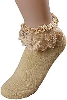 Calcetines Mujer Termicos Calcetines Mujer Invierno Otoño Calcetines Para Mujer Calcetines Tobilleros Con Volantes De Encaje Vintage Para Mujer Calcetines De AlgodóN Princesa Para Niñas