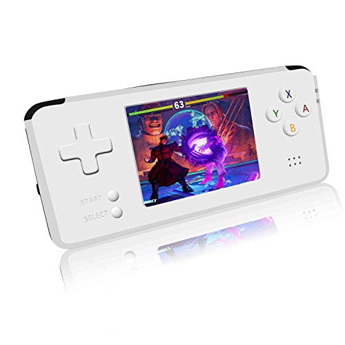 BAORUITENG Handheld Game Console, Retro Game Console 3 Inch HD Screen 3000 Classic Game Console ,Portable Video Game Great Gift for Kids (White)