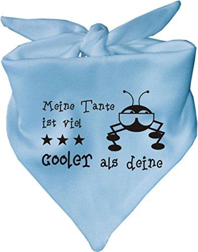 KLEINER FRATZ Baby Halstuch Meine Tante ist viel cooler als deine/AUNTI/Fb. Hellblau