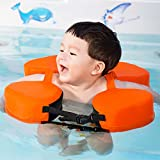 Baby Swimming Float Ring Non Inflatable Toddler Float for Age of 3-36 Months,Infant Swim Trainer (Orange)
