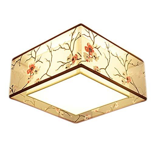 Lámparas de techo para sala de estar Moderno estilo chino Hierro forjado circular lámpara del techo, pantalla de tela, Inicio de techo de la lámpara LED, Restaurante ala del balcón Foyer luces de tech