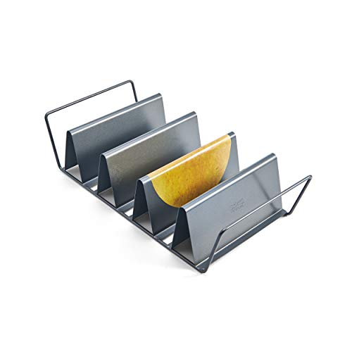 Chicago Metallic Professional 6Shell Baked Taco Rack 15Inchby7Inch Grey medium  26410