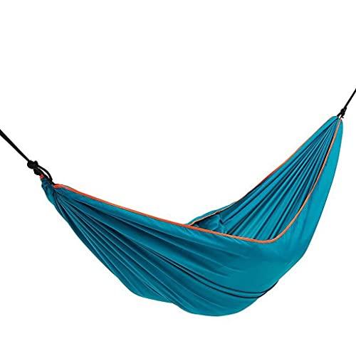 LYMUP Hamaca, recreación Portátil Ligerable Doble Hamaca Multifuncional 2 Personas Hamak Camping Mochilero Viajes Playa Yard Garden Regalos para Excursionistas (Color : Blue)