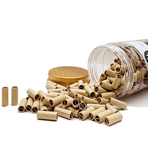 Original Unbleached Pre-Rolled Tips, Unrefined Rolling Cigarette Filters, Ø6mm Rolling Paper Joints, Suitable for All Kinds of Rolling Machine(450 Tips)