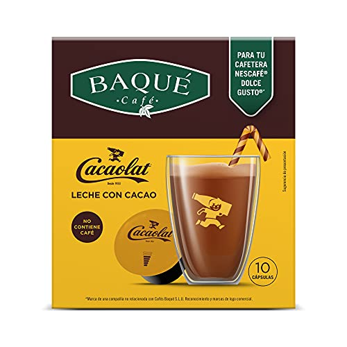 Cafés Baqué - Cacaolat 10 Cápsulas Compatibles con Dolce Gusto