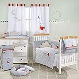 Juego de ropa de cama para cuna de bebé Winnie The Pooh Sleeping, juego de ropa de cama para bebé (protector de costillas + edredón + sábana bajera) bordado y protector de parachoques