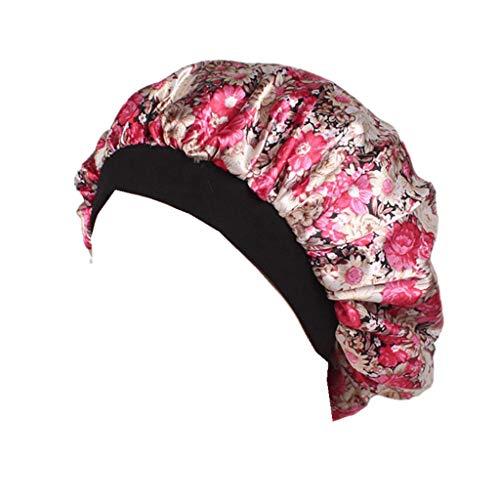 Swyss Luxury Wide Band Satin Bonnet Cap Comfortable Night Sleep Hat Hair Loss Cap