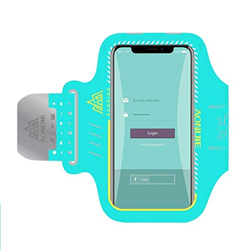 DFVmobile - Professional Cover Neoprene Armband Sport Walking Running Fitness Cycling Gym for LG G3 Dual-LTE, D856 - Green