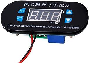 CUHAWUDBA W1308 AC 220V Controlador Digital de Temperatura Del Sensor de Calor Frío Interruptor Del Termostato Ajustable Control Del TermóMetro Luz Roja