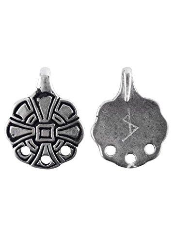 Battle-Merchant 1 Paar Wadenwickel - Haken aus der Wikingerzeit LARP Mittelalter Wikinger (Silber)