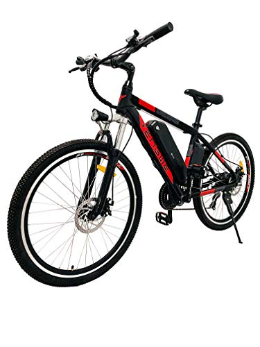 ENGWE Electric Bike Adult Electric Mountain Bike 250W E-Bike 26'' Electric Bicycle with Removable 36V 8Ah Battery, Professional 21 Speed Gear Electric Bicycle (red)