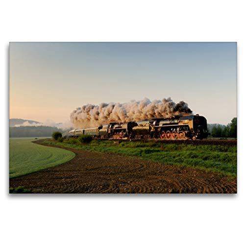 CALVENDO Premium Textil-Leinwand 120 x 80 cm Quer-Format Morgenstund hat Gold im Mund, Leinwanddruck von HP